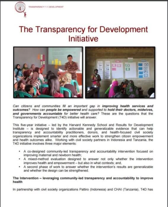 T4D Initiative resource image