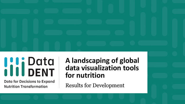 A landscaping of global data visualization tools for nutrition