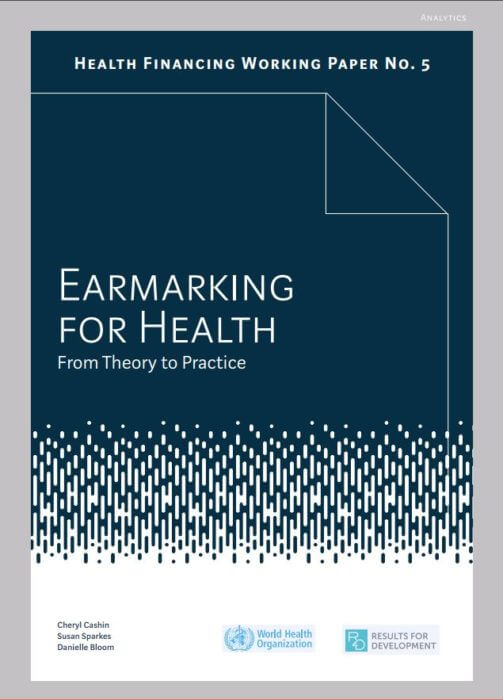 Earmarking for Health Working Paper
