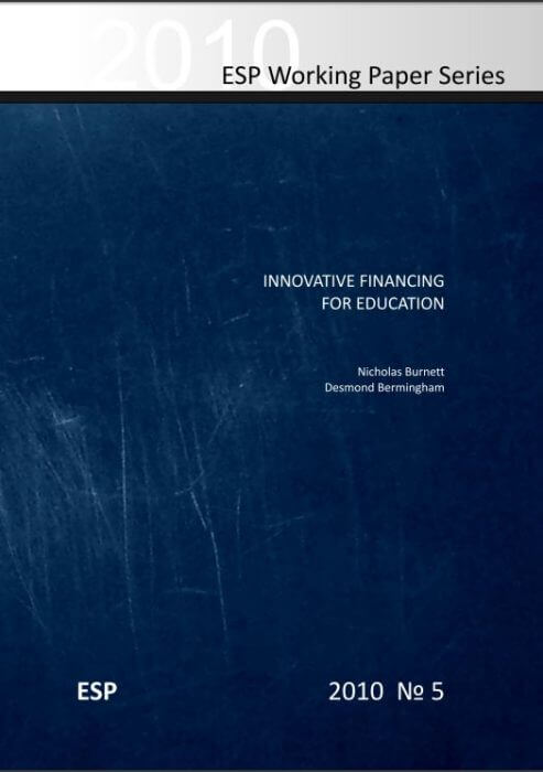 Innovative Financing for Education - Burnett & Bermingham