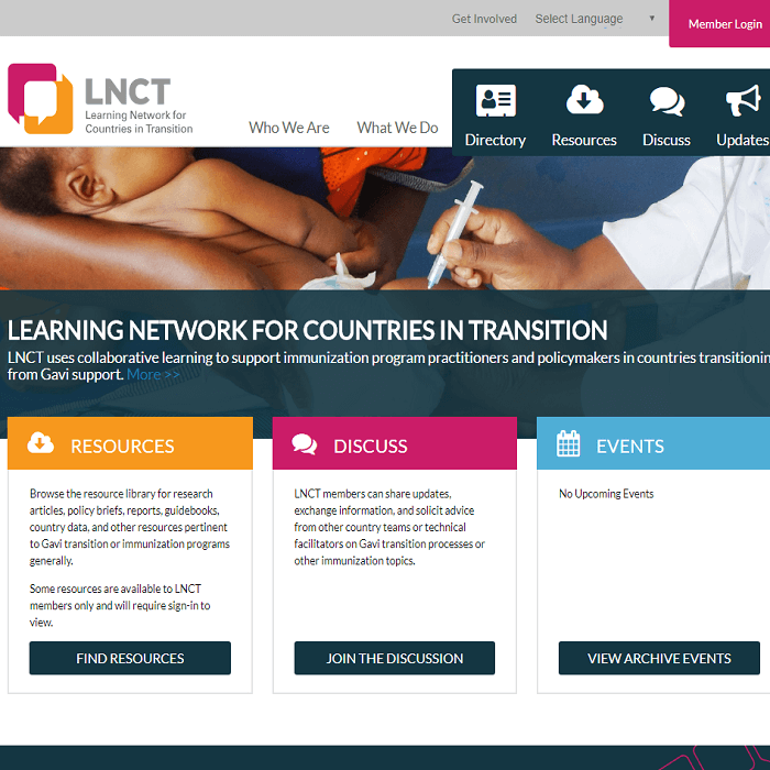 LNCT Website Screenshot