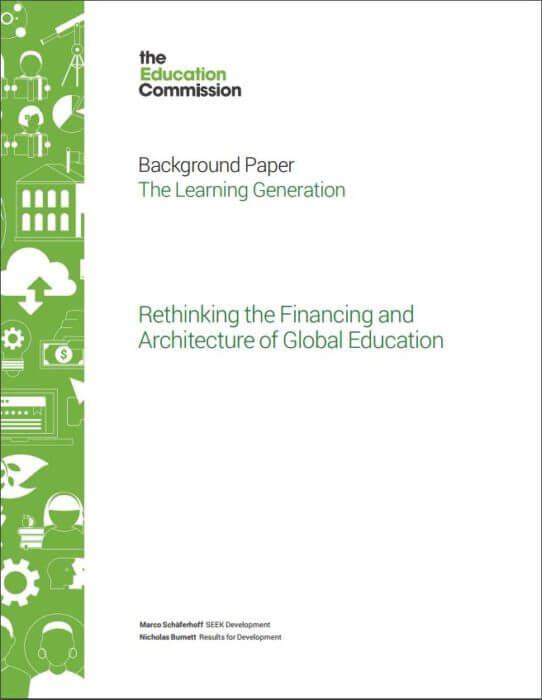 Rethinking Financing Global Education report