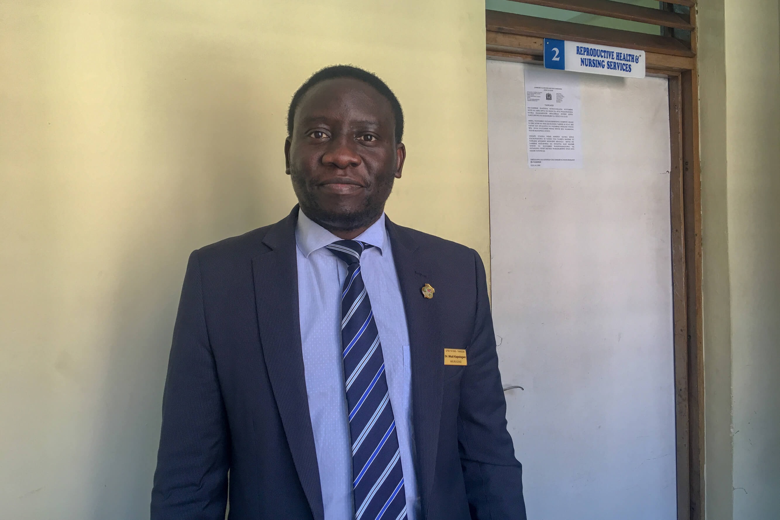 Dr. Ntuli Kapoglowe, program director of health, social welfare and nutrition services for the President's Office – Regional Administration and Local Government (PO-RALG)